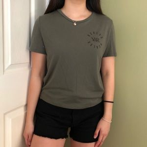 Young & Reckless Forest Green Top